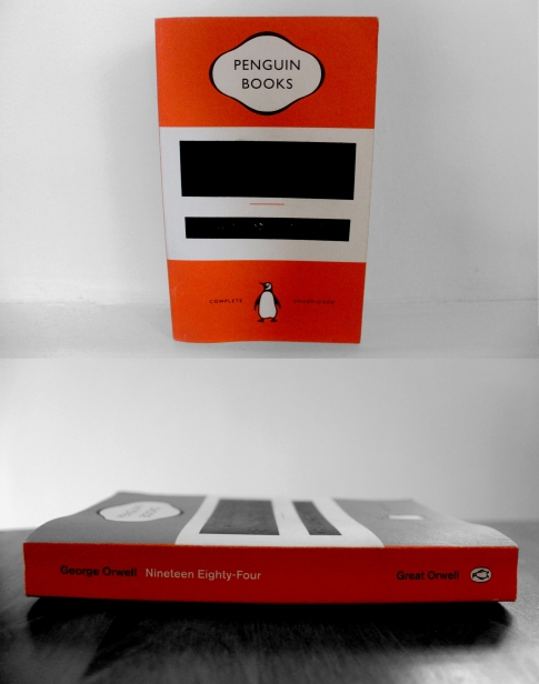 Really smart cover design. Published by Penguin Books - Great Orwell