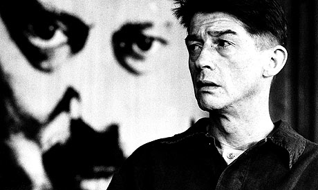 John Hurt as Winston Smith in the film adaptation. Big Brother is watching.