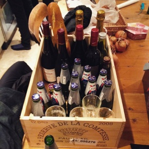 Our NYE crate of booze.