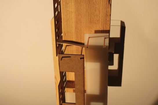 A conceptual model for a third year architecture project, set in and around Guy's Hospital in London Bridge.