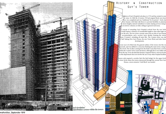 I managed to obtain old photographs and diagrams of when the tower was originally constructed