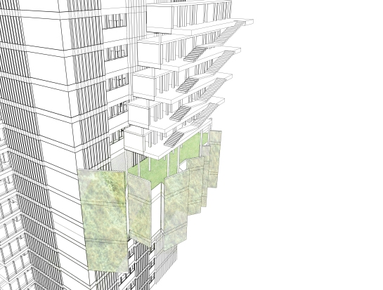 Experimenting with facades and external spaces with 3D modelling in Vectorworks